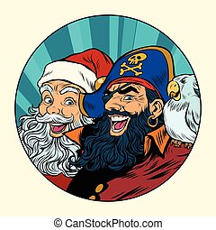 Santa and the pirate
