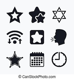 Star of David icons Symbol of Israel - Star of David icons...