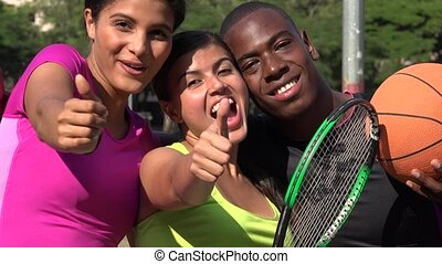 Sports Athletes Having Fun