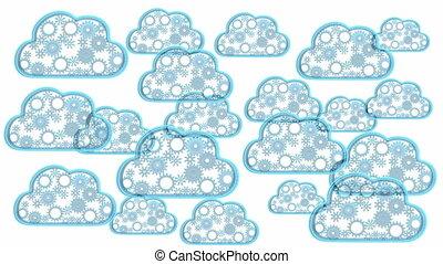 Cloud computing theme loop - 3D render - Cloud computing...