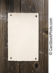 Old-Style Paper On Brown Wood Texture. Ready For Your...