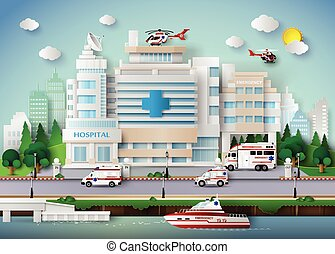 Hospital building - hospital building and emergency...