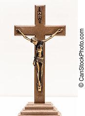 The Crucifix - A crucifix in a white background