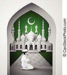 Ramadan kareem - Ramadan Kareem with Muslim man