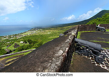 Coastline of Saint Kitts - The beautiful coastline of St...