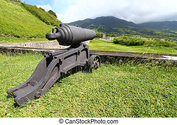 Brimstone Hill Fortress - St Kitts - A cannon at Brimstone...