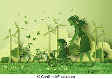 concept of eco with family