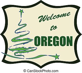 Abstract symbol Welcome to Oregon
