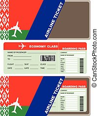 Air ticket and envelope Belarusian