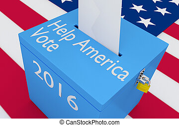Help America Vote concept - 3D illustration of Help America...