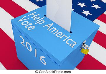 Help America Vote concept - 3D illustration of 'Help America...