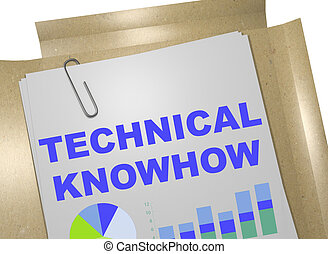 Technical Knowhow concept - 3D illustration of 'TECHNICAL...