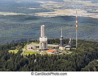 top of Feldberg in Hesse with tv tower - top of Feldberg in...