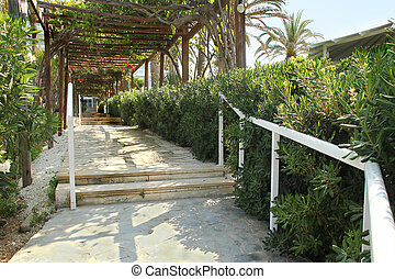 footpath along the promenade by the sea