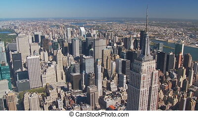 empire state building aerial view part III - aerial view of...