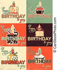 cute happy birthday card with cupcake.