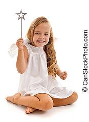 Happy fairy doing her magic