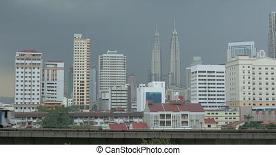 Overground train in Kuala Lumpur, Malaysia - Kuala Lumpur...