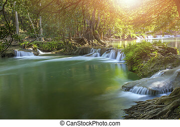 ched sao noi water falls in saraburi central of thailand...