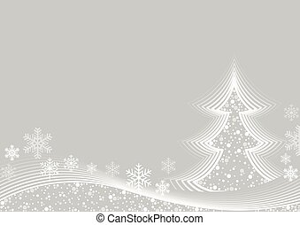 White Christmas Greeting - Abstract White Christmas Greeting...