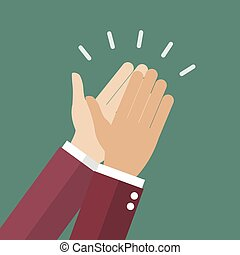 Businessman hands clapping. vector illustration