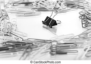 PaperClip background, The concept of Think different or...