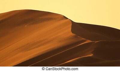 dunes in desert with wind closer.mov