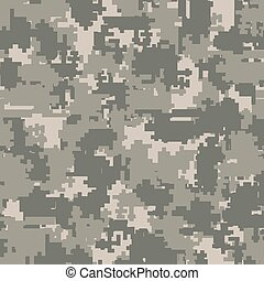 Digital camouflage seamless patterns - Digital pixel...