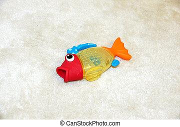 água, peixe, saída