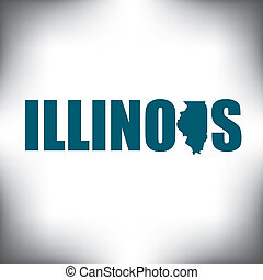 The Illinois shape is within the Illinois name in this state...