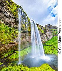 View of Seljalandsfoss waterfall - Iceland