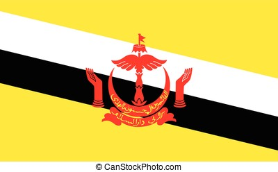 Brunei flag, vector
