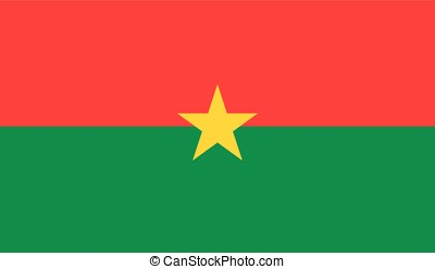 Burkina Faso flag, vector