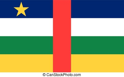 Central African Republic flag, vector