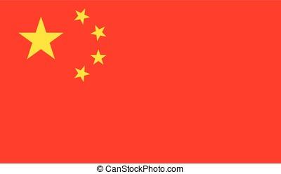 China flag, vector