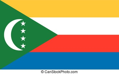 Comoros flag, vector