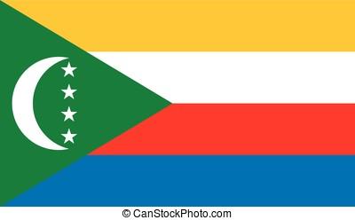 Comoros flag, vector