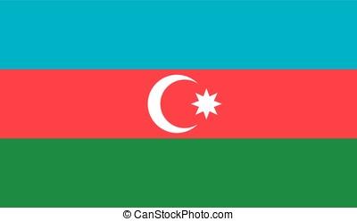 Azerbaijan flag, vector