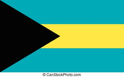 Bahamas flag, vector
