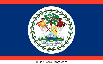 Belize flag, vector