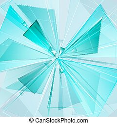 explosion background - collapsing abstract glass background,...