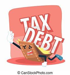 wallet burdened by tax