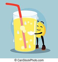 lemon man loves lemonade