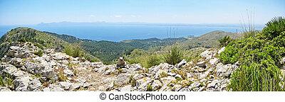 Panorama bay of Alcudia, Majorca, Spain - Bay of Alcudia...