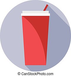 Digital vector red plastic soda drink can
