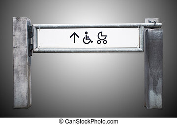 Entrance to the shop for physically challenged persons and...