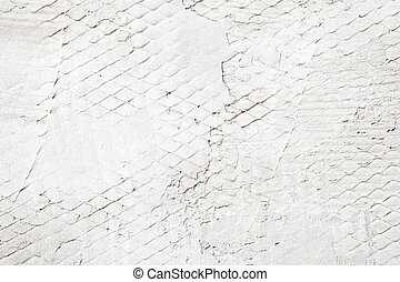 White Painted Stone Wall As Industrial Background