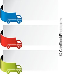Vector labels - delivery method, free delivery, fast...