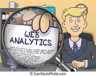 Web Analytics through Magnifier. Doodle Style. - Web...