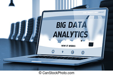 Big Data Analytics Concept on Laptop Screen. 3D. - Big Data...